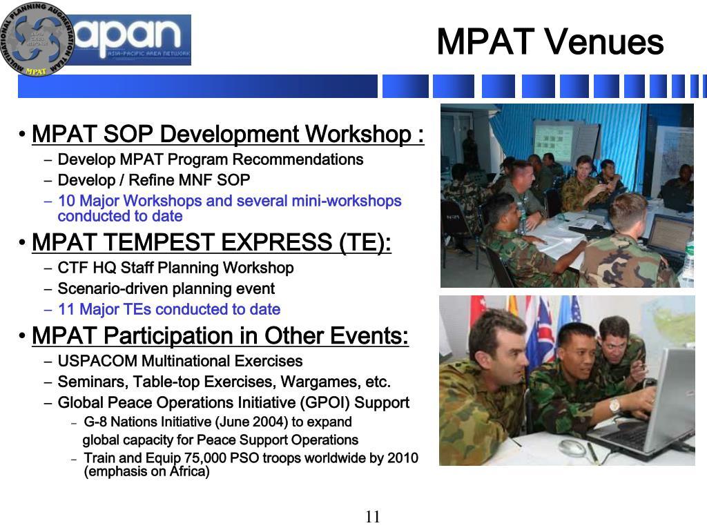 MPAT Venues