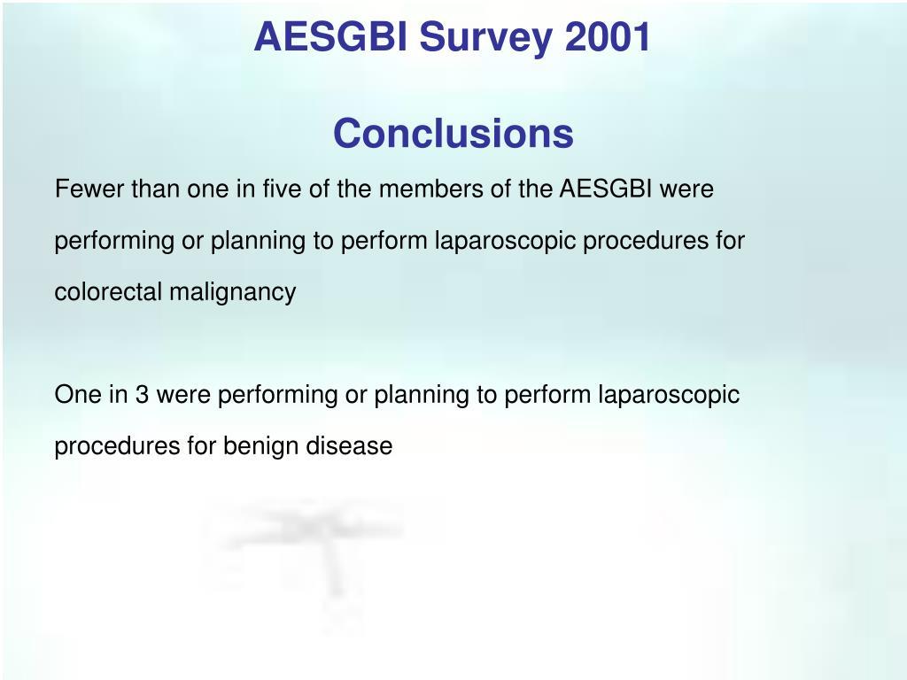 AESGBI Survey 2001