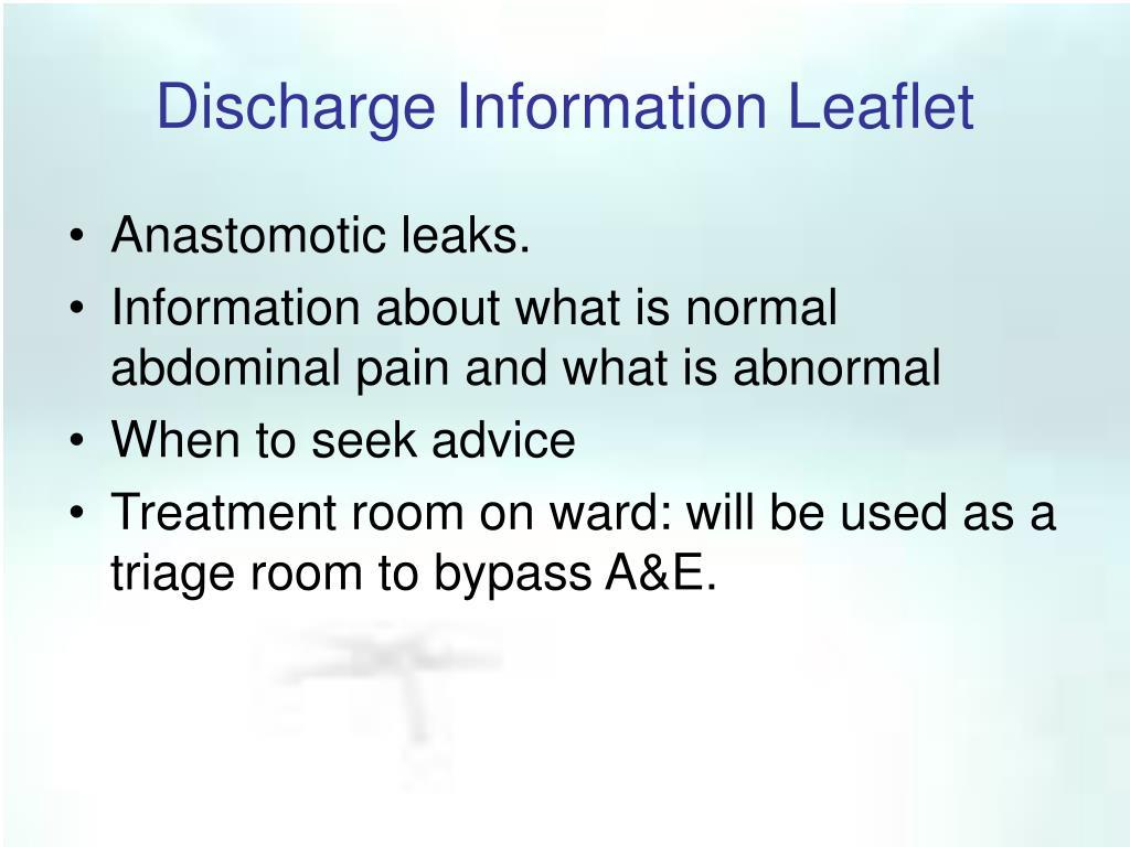 Discharge Information Leaflet