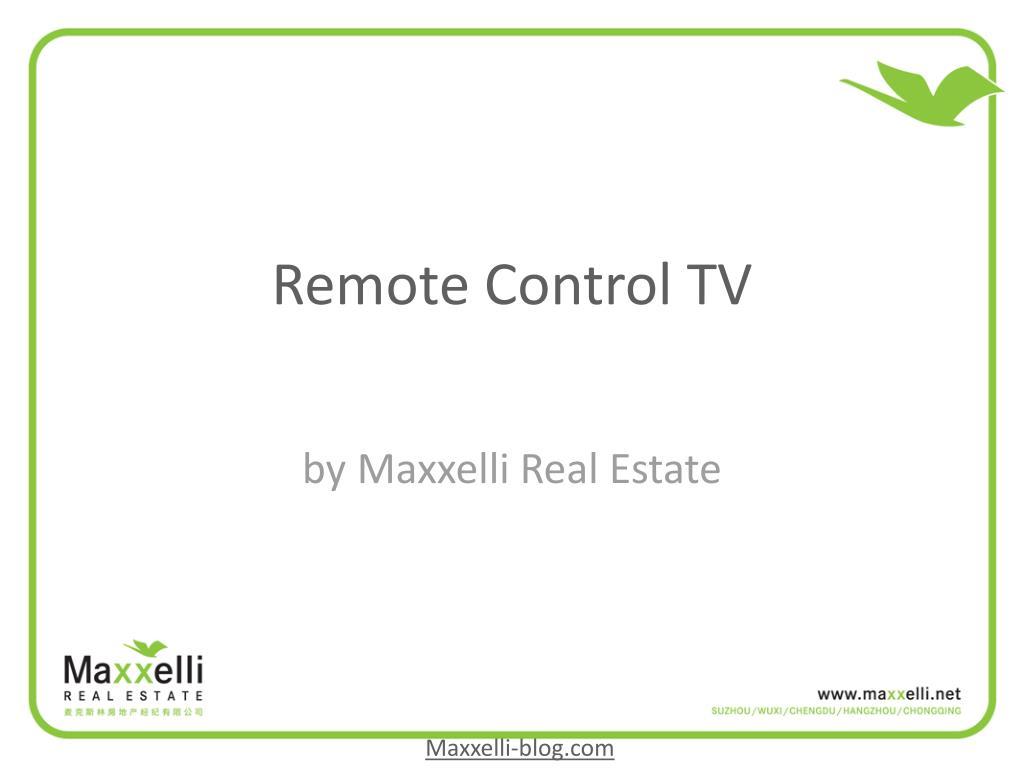 remote control tv l.