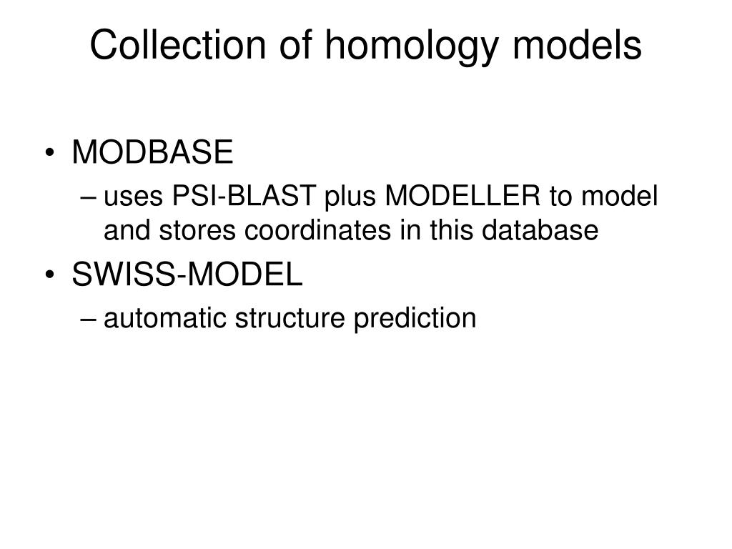 Collection of homology models
