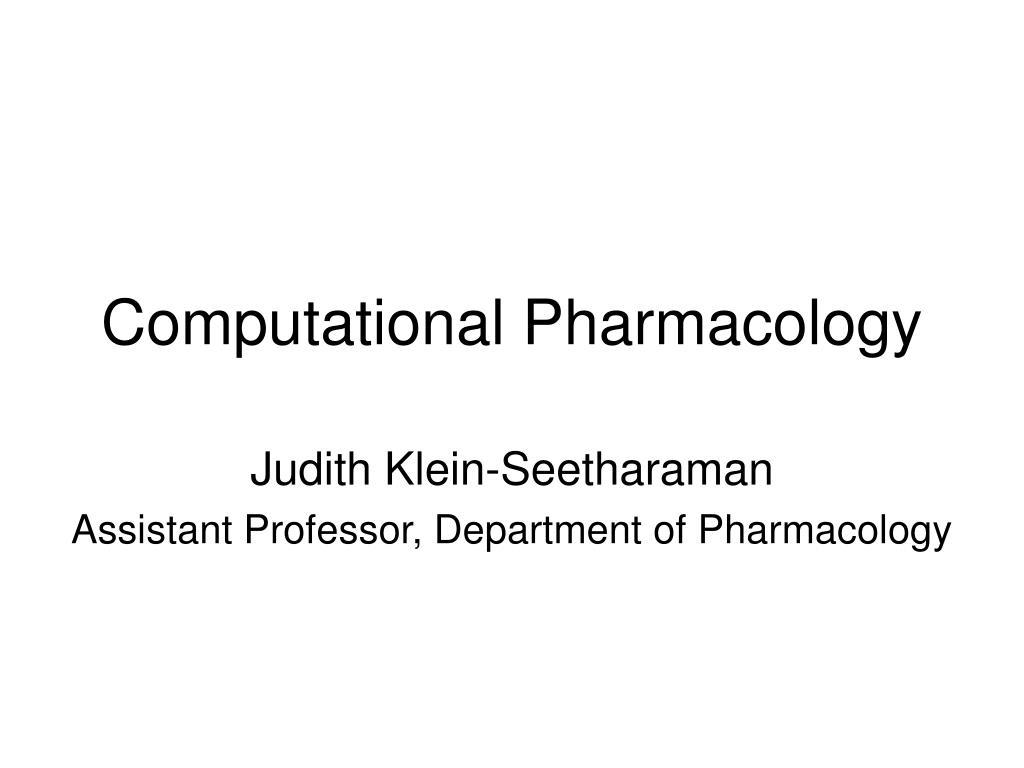 Computational Pharmacology