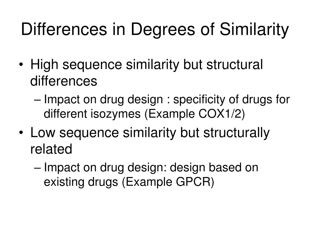 Differences in Degrees of Similarity