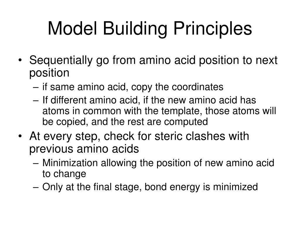 Model Building Principles