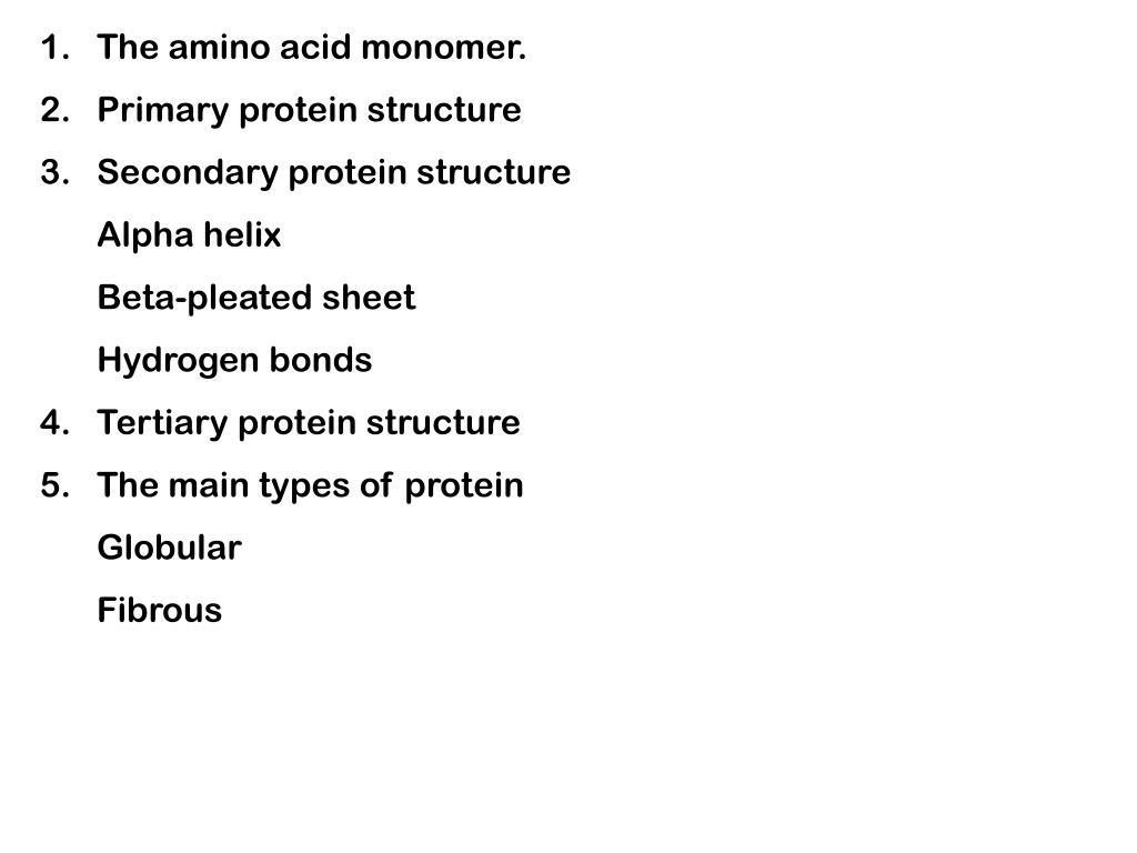The amino acid monomer.