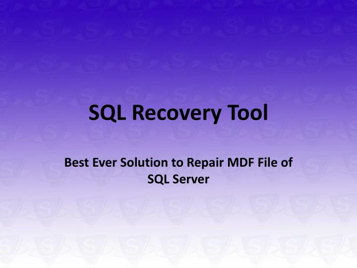 sql recovery tool n.