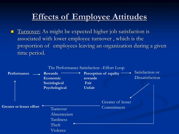 employee attitude and their effects