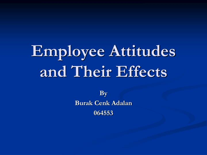 employee attitudes and their effects n.