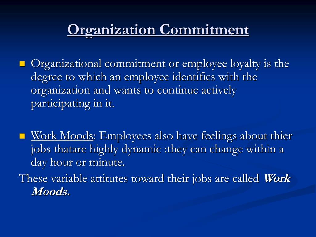 impact of employee commitment on employee Explore the impact of organizational culture on the job satisfaction, employees'  commitment and the retention of the employees in the.