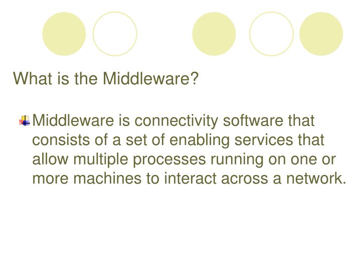 What is the middleware