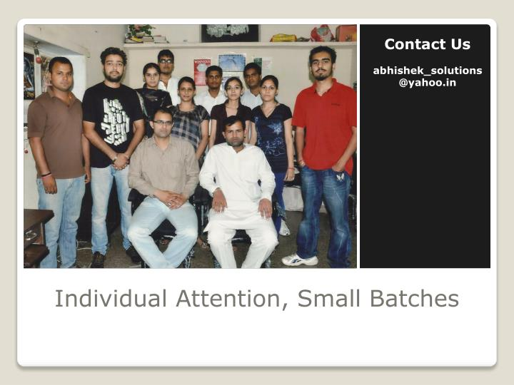Individual attention small batches