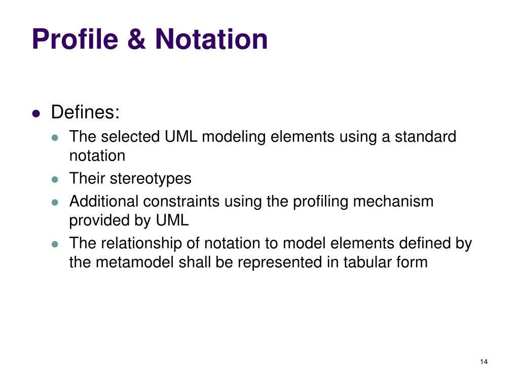 Profile & Notation