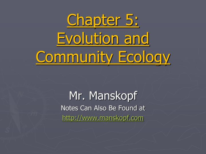 chapter 5 evolution and community ecology n.