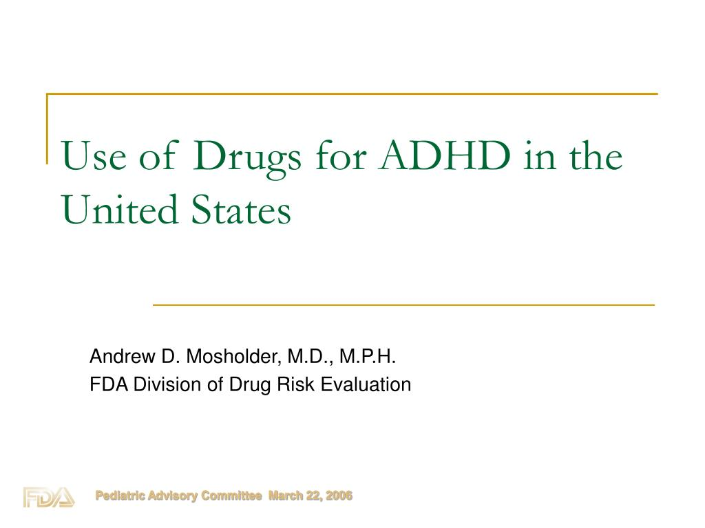 use of drugs for adhd in the united states