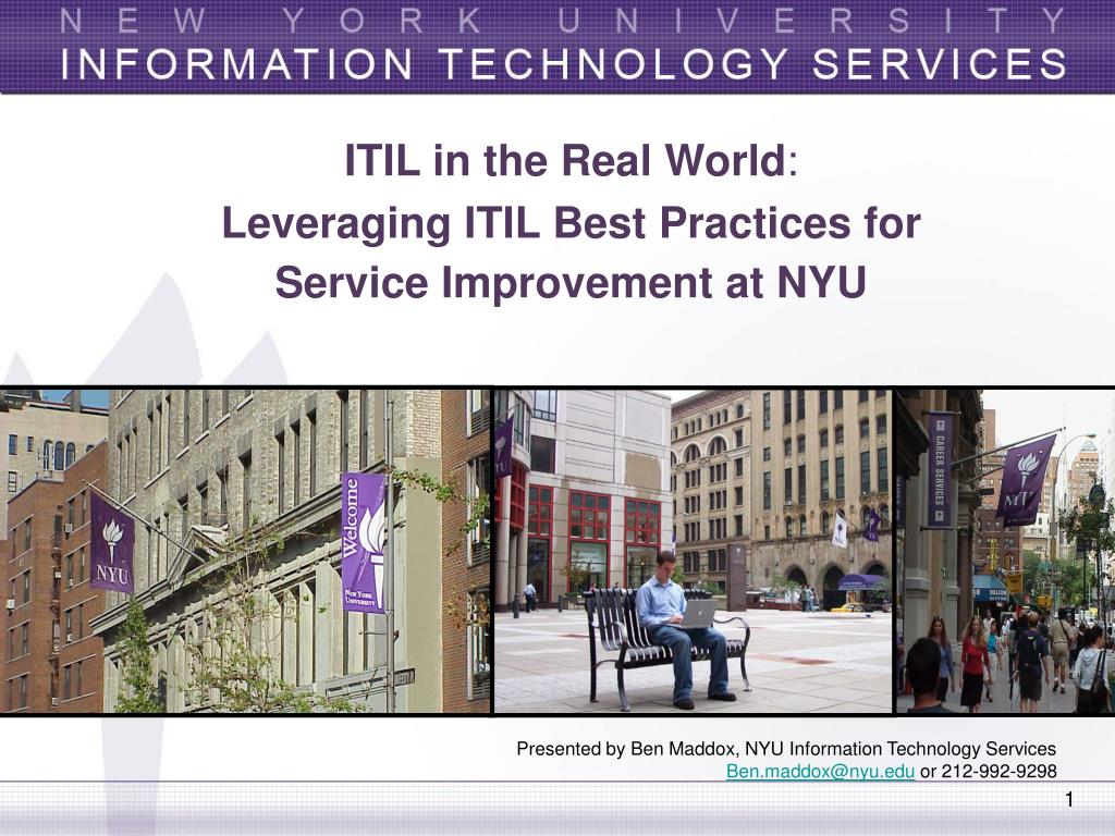PPT - ITIL in the Real World : Leveraging ITIL Best
