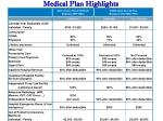 medical plan highlights