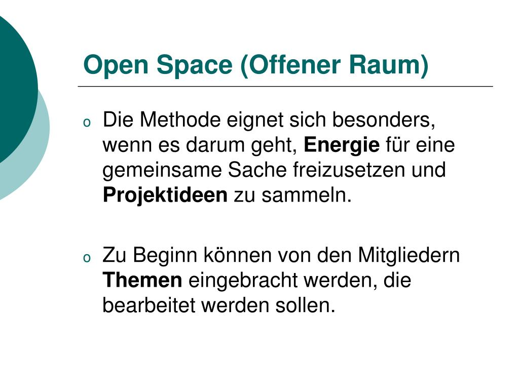 Open Space (Offener Raum)