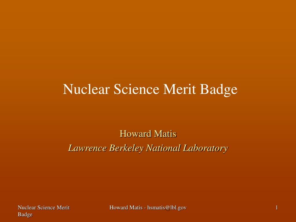 nuclear science merit badge l.