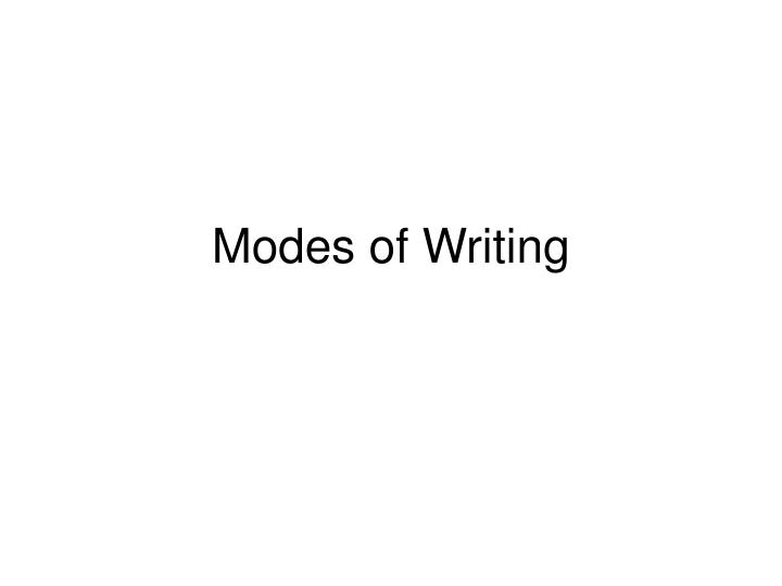 modes of writing n.