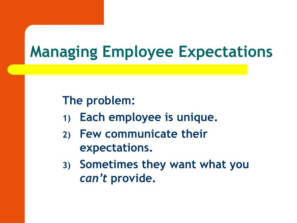 Managing Employee Expectations