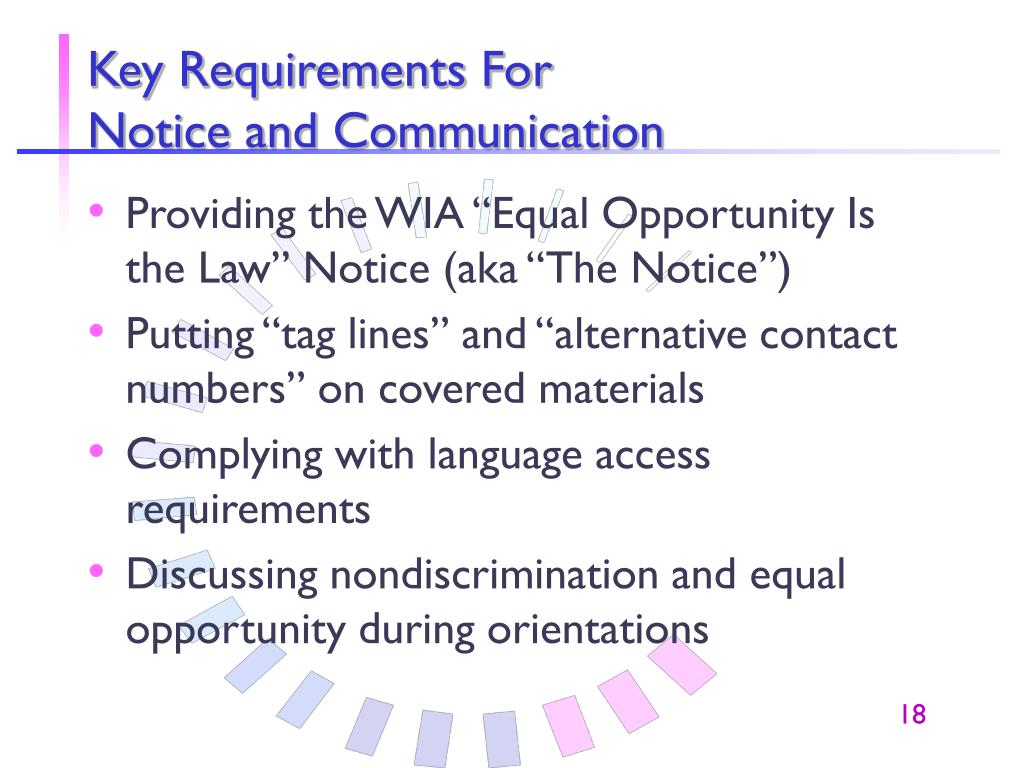 Key Requirements For