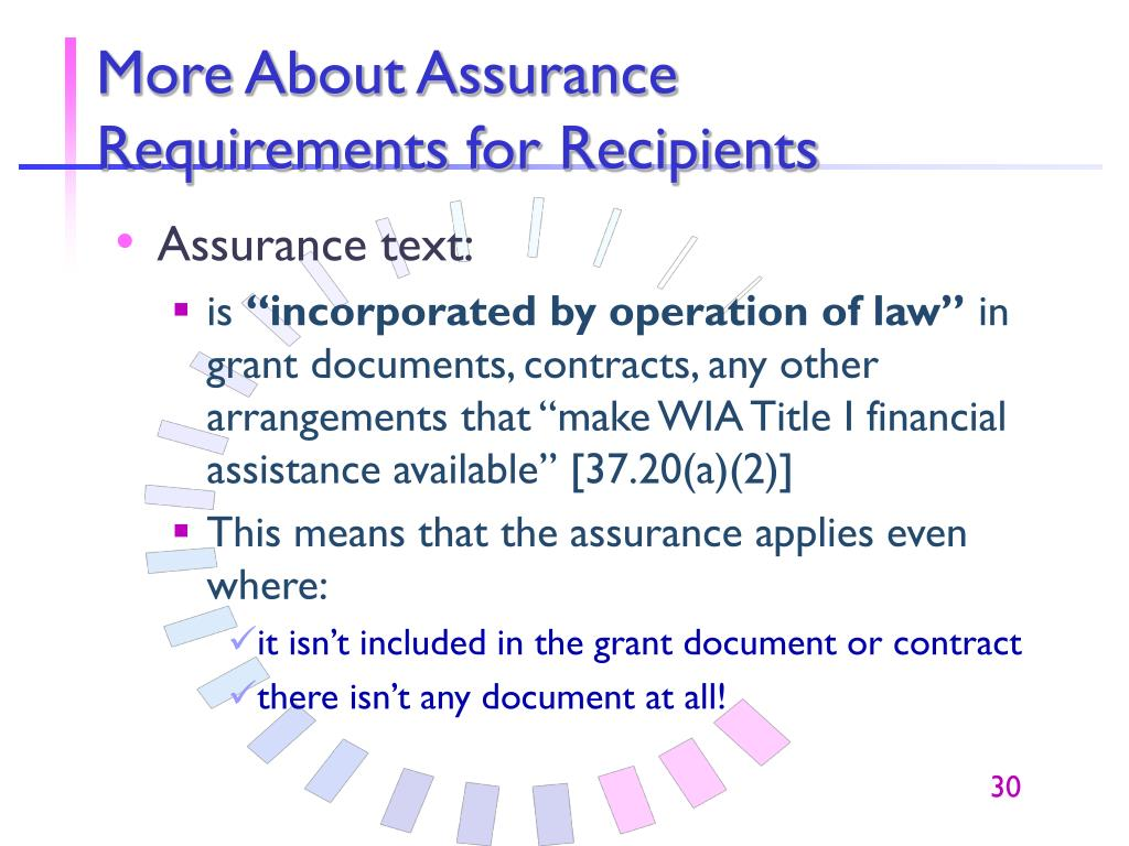 More About Assurance