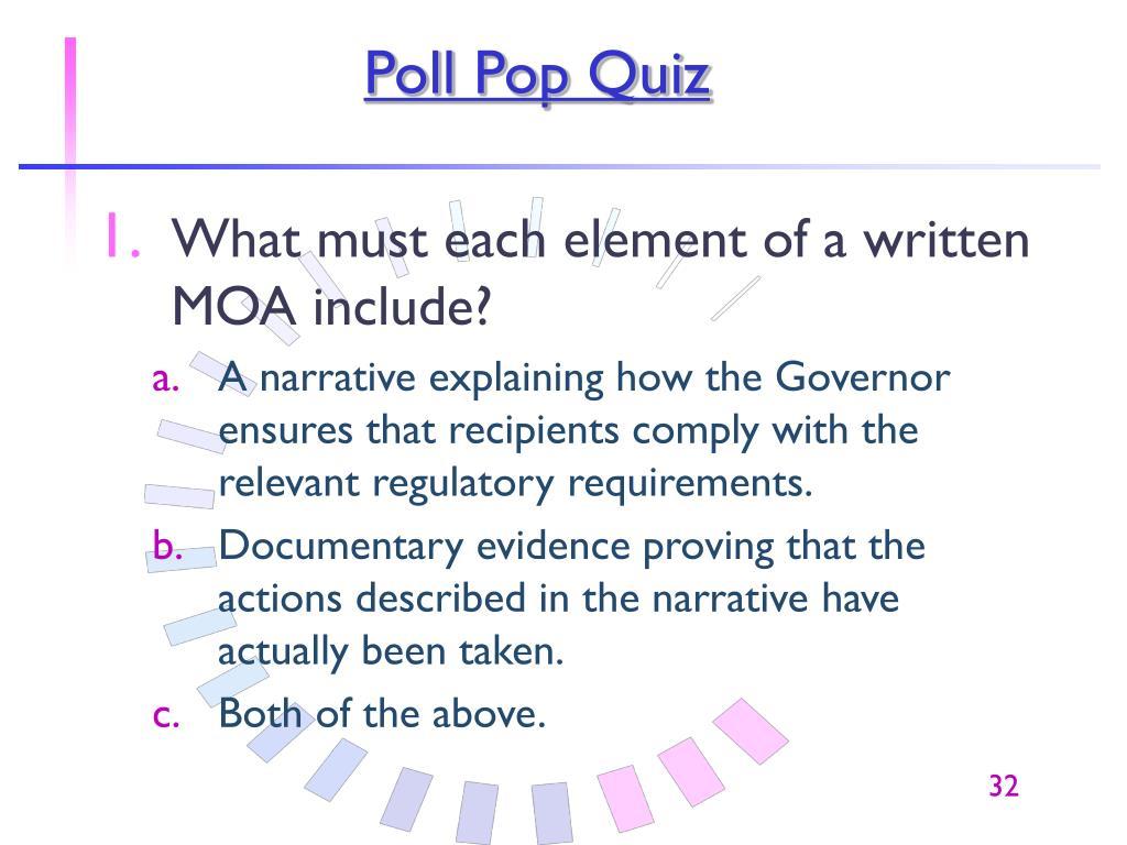 Poll Pop Quiz