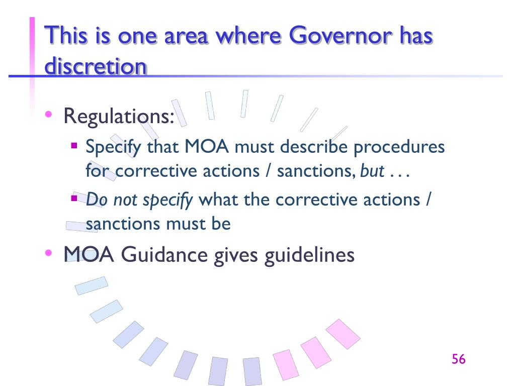 This is one area where Governor has discretion