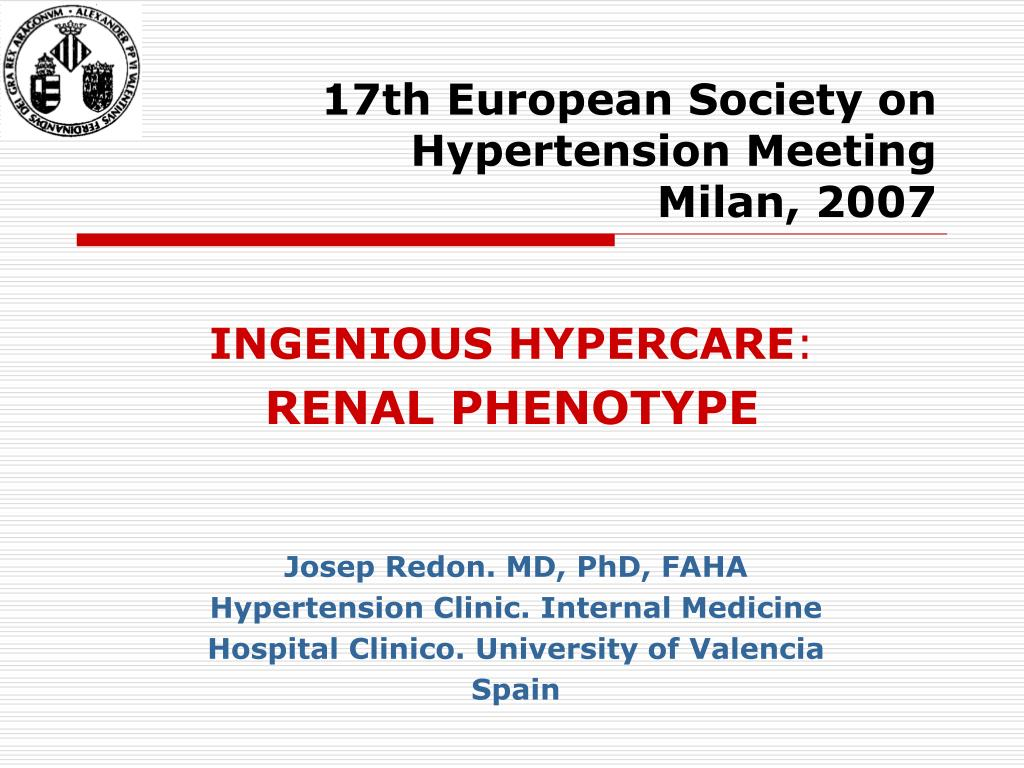 17th European Society on Hypertension Meeting