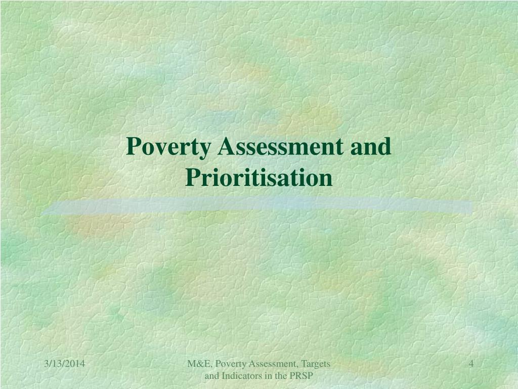 Poverty Assessment and