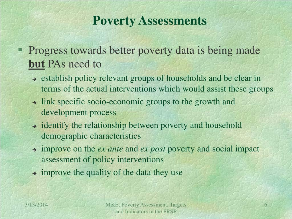 Poverty Assessments