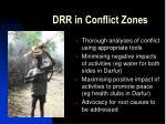 drr in conflict zones