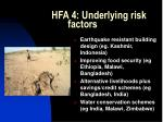 hfa 4 underlying risk factors