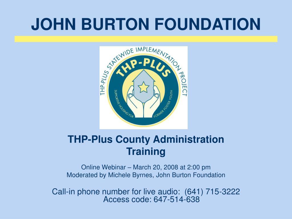 john burton foundation