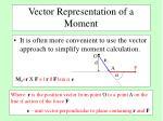 vector representation of a moment