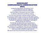 nonviolent compassionate communication nvc