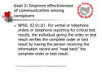 goal 2 improve effectiveness of communication among caregivers