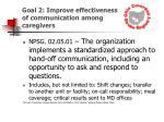 goal 2 improve effectiveness of communication among caregivers16