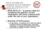 goal 8 accurately and completely reconcile medications across the continuum of care