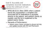 goal 8 accurately and completely reconcile medications across the continuum of care30