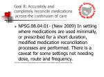 goal 8 accurately and completely reconcile medications across the continuum of care31