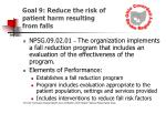 goal 9 reduce the risk of patient harm resulting from falls