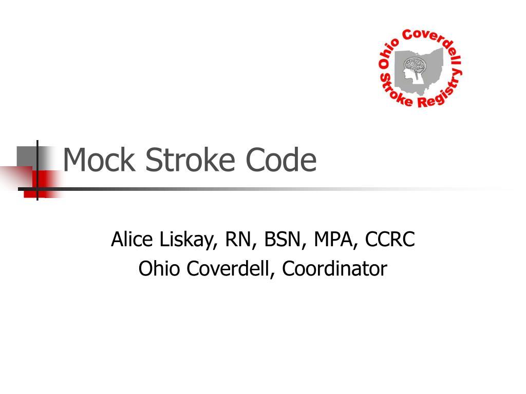 mock stroke code l.