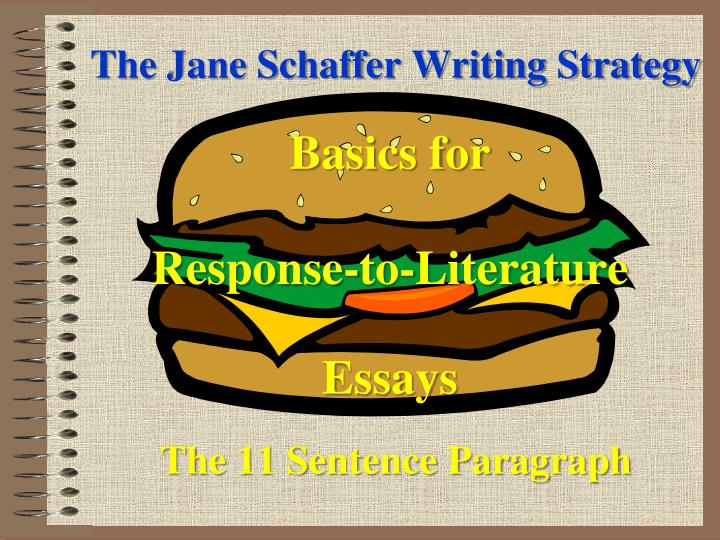 jane schafer method for an essay Html forex quotes for major currency pairs the jane schaffer writing program® is the premier academic jane schafer method for an essay writing system for.