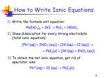 how to write ionic equations