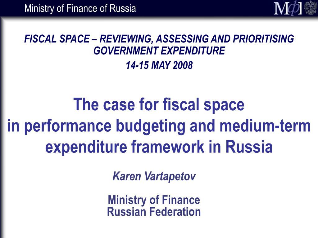 karen vartapetov ministry of finance russian federation