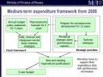 medium term expenditure framework from 2008