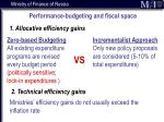 performance budgeting and fiscal space