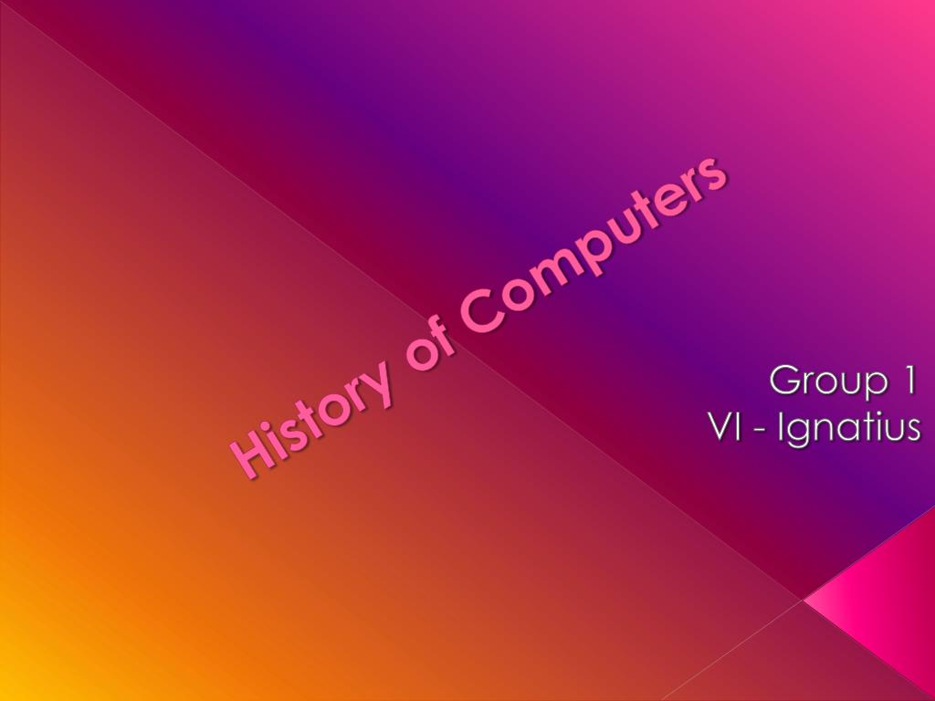 history of computers l.