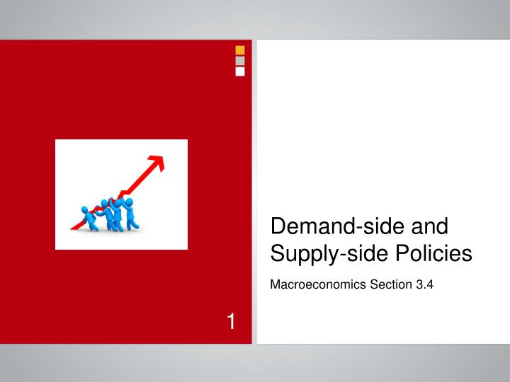 demand side and supply side policies n.